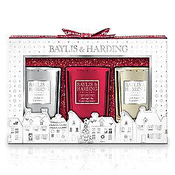 Baylis & Harding Christmas Classic Set of 3 Candles