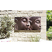 La Hacienda Buddha Heads Outdoor Canvas