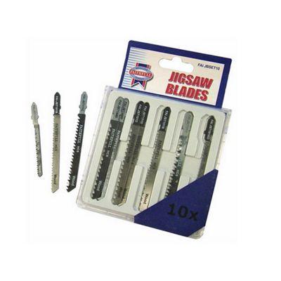 Faithfull Jigsaw Blade Set 10pc Assorted