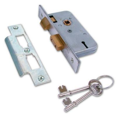 UNION 2277 3 Lever Sashlock - 64mm SC KD Bagged - SPECIAL OFFER!