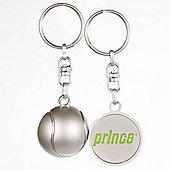 Prince Ltd Edition Chunky Embossed Half Tennis Ball Metal Keyring & Chain