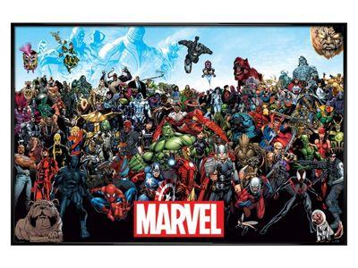 Marvel Comics Gloss Black Framed Marvel Universe Poster 61x91.5cm