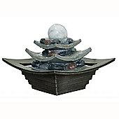 Indoor Three Tier Ball Water Fountain - Grey / Green