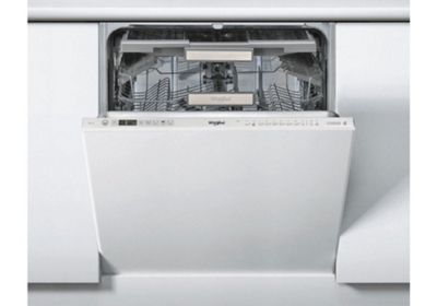 Whirlpool WIO3O33DELUK 14 Place Built In White Dishwasher