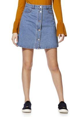 Noisy May A-Line Denim Skirt Mid Wash L