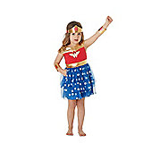 DC Comics Wonder Woman Tutu Fancy Dress Costume - Red
