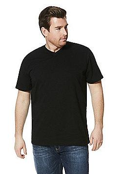 Jacamo Longer Length V-Neck T-Shirt - Black