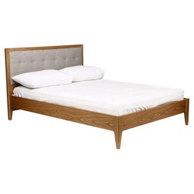 Stockholm Double Wooden Bed Frame, Oak