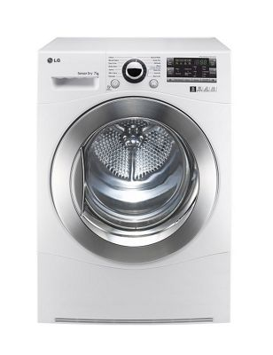 LG RC7066A2Z 7KG Condenser Sensor Tumble Dryer, White with Smart Diagnosis