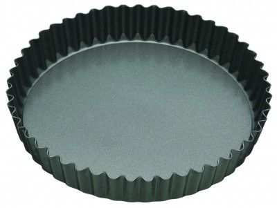 Master Class Non - Stick Fluted Loose Base Quiche Tin Round 25cm KCMCHB33
