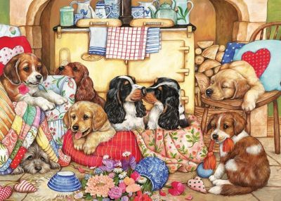 Puppies Will Be Puppies - 500 Piece XL Puzzle