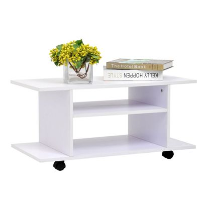 Homcom Modern TV Cabinet Stand (White)