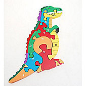 Traditional Wood 'n' Fun 1 -10 Chunky Dinosaur Puzzle