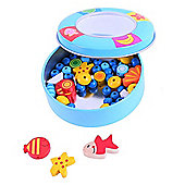 Bigjigs Toys Jewellery Making Set in Tin (Blue)