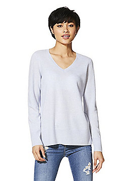 F&F Cashmere V-Neck Jumper - Light blue