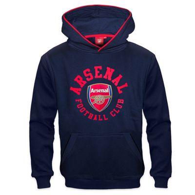 Arsenal FC Boys Hoody Navy 8-9 Years