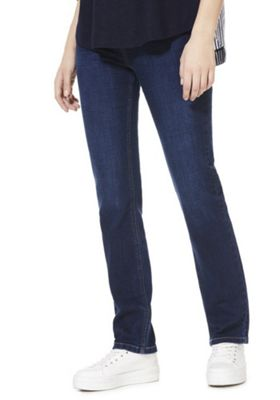 F&F Mid Rise Slim Leg Jeans Indigo 10 Short leg