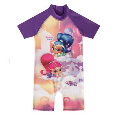 Shimmer And Shine Girls Kids Swim Surf Suit Purple 2-3 Years