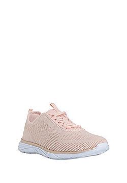 F&F Active Metallic Knit Trainers - Blush pink
