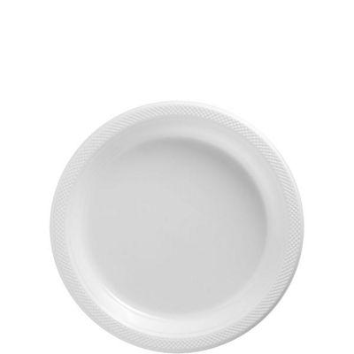 White Dessert Plates - 17cm Plastic - 50 Pack