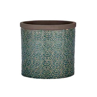 Bahne Pot Small Green Patterned
