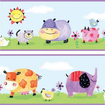 Nusery Self Adhesive Border - Polka Dot Piggy