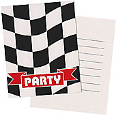 Grand Prix Party Invitation Cards - 8 pack