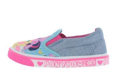 Girls My Little Pony MLP Casual Canvas Blue Glitter Sparkle Shoes UK Infant Size 6