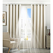 Riva Home Eclipse Blackout Eyelet Curtains - Ivory
