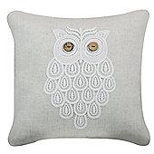 Natural Lace Owl Cushion Stylish Retro Home Decor