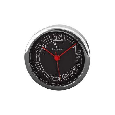 Oliver Hemming Alloy Desire Alarm Clock - Black - 8cm