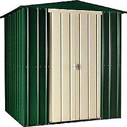 Store More Heritage Green Lotus Metal Apex Shed, 6x3ft