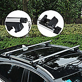 Outsunny Cross Bar Roof Rail Rack Luggage Carrier Mount Car Universal w/ Aluminum Alloy