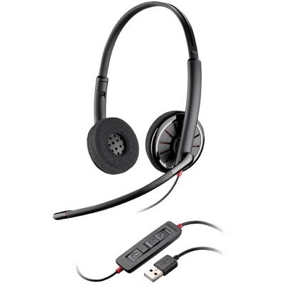 Plantronics Blackwire C325-M Wired Stereo Headset - Over-the-head - Supra-aural