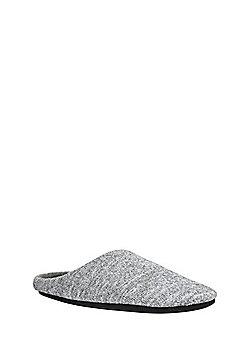 F&F Marl Mule Slippers - Grey