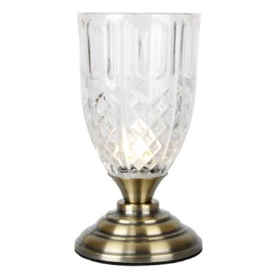 Goblet Touch Table Lamp, Antique Brass