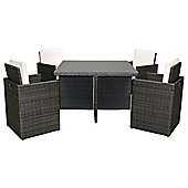 Bentley Garden Brown Rattan 5 Piece Cube Set