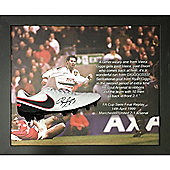 Framed and domed Ryan Giggs signed boot from during his Manchester United career