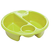 The Neat Nursery Circular Top N' Tail Wash Bowl - Lime