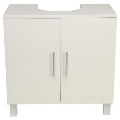 buy compact bathroom under sink cabinet white from our bathroom wall cabinets range tesco. Black Bedroom Furniture Sets. Home Design Ideas