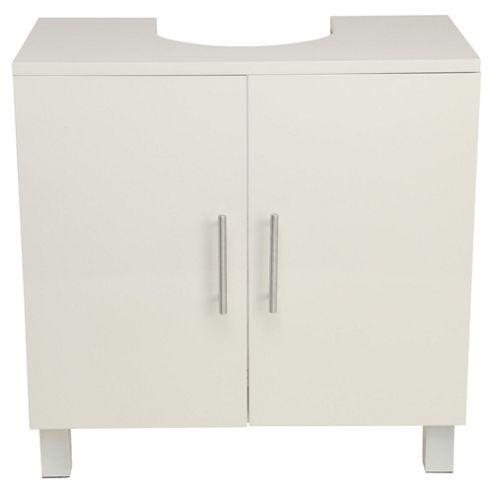 Compact Bathroom Under Sink Cabinet, White