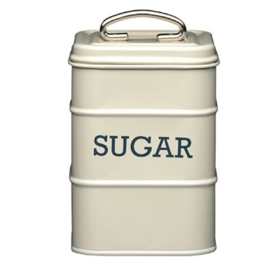 Living Nostalgia Vintage Sugar Storage Tin, Cream