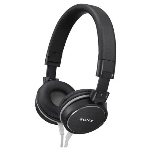 Sony Overhead Headphones with Aluminium Finish Black MDRZX600B