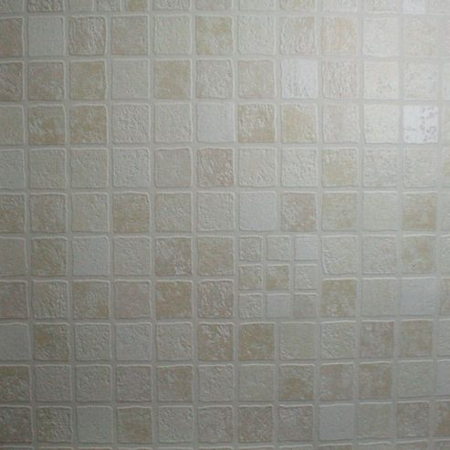 Buy Contour Earthen Tile Effect Kitchen Bathroom Beige Wallpaper