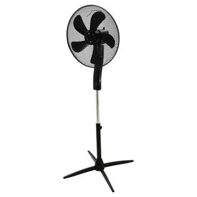 Buy Tesco 16 Quot Pedestal Fan With Remote 3 Speed Black