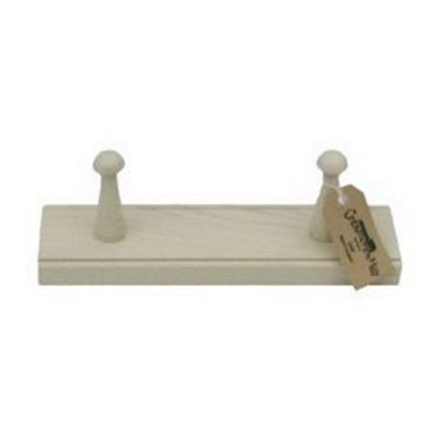 Creamore Mill Oak Shaker 2 Peg Mill in White SPW2