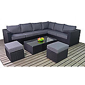 Luxan Prestige Large Corner Set with Footstools and Coffee Table