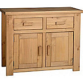 TNW Leon 2 Door 2 Drawer Sideboard in Distressed Waxed Pine