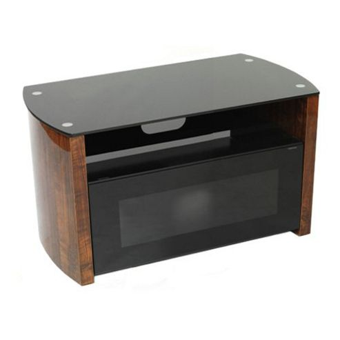 Iconic walnut and black TV stand for screens up to 37 inch