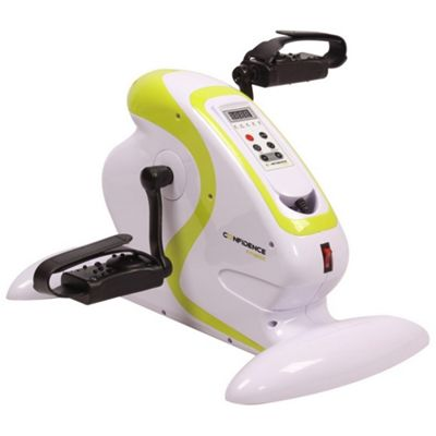 Confidence Fitness Motorized Electric Mini Exercise Bike / Pedal Exerciser White